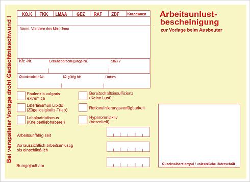 Arbeitsunfähigkeitsbescheinigung Version 07/2013