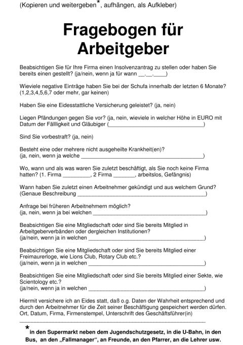 Fragebogen Technik