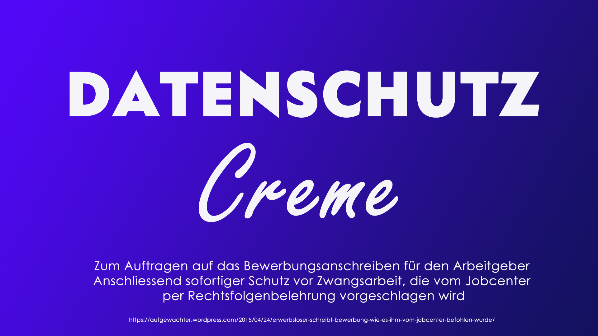DATENSCHUTZ-Crème